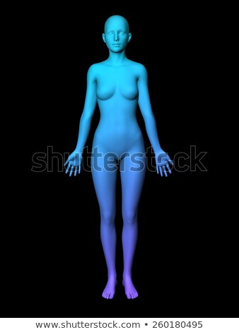 Colorful 3D Female Model Stock photo © kentoh