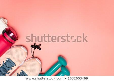 Rózsaszín terv háttér ipar szövet padló Stock fotó © ozaiachin