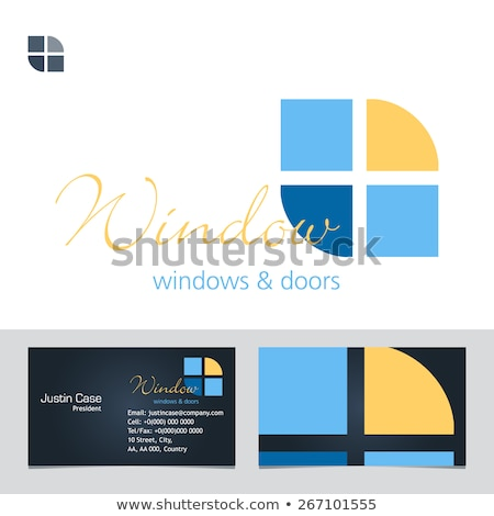 Logo for door manufacturing business Stock photo © shawlinmohd