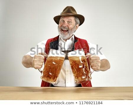 Oktoberfest om ilustrare ceaşcă pub proaspăt Imagine de stoc © adrenalina