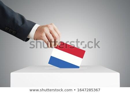 Man stemmen vak Nederland partij Stockfoto © Zerbor