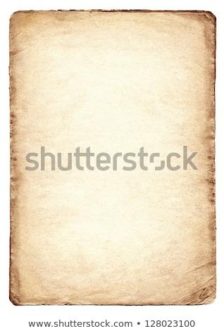 Eski kağıt yalıtılmış beyaz soyut Retro Stok fotoğraf © Avlntn