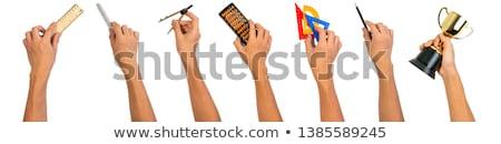útiles · escolares · fondo · herramientas · cuaderno · atrás - foto stock © m_pavlov