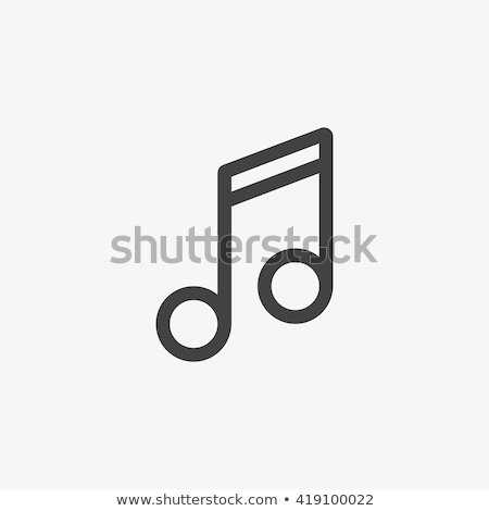 Bass clef line icon. Stock photo © RAStudio