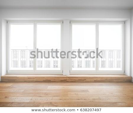 twee · Windows · ruïneren · gebouw · glas - stockfoto © kk-art