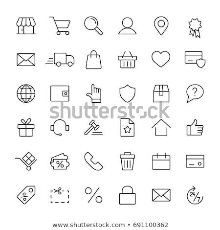 website · internet · pictogrammen · ingesteld · een · zestien · Blauw - stockfoto © genestro