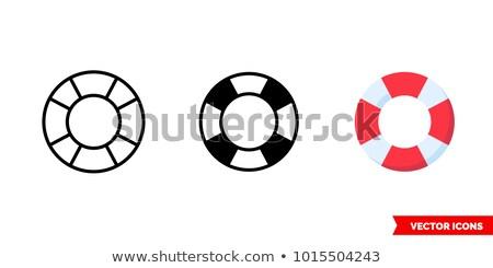 sea lifebuoy circle icon stock photo © anna_leni