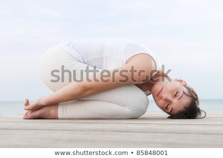 The Crouch Yoga Pose Stock photo © kentoh