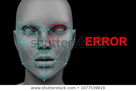 identificazione · riconoscimento · faccia · tecnologia · blu · mail - foto d'archivio © stevanovicigor