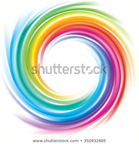 радуга · спиральных · небе · оранжевый · зеленый - Сток-фото © fotoyou