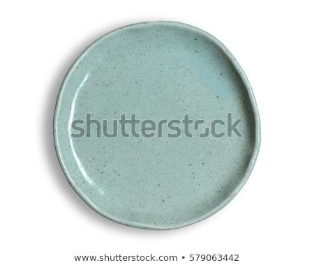 Cerâmico prato isolado branco fundo restaurante Foto stock © Serg64