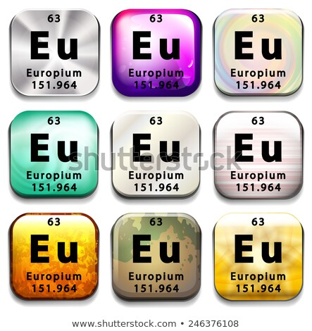 A button showing the element Europium Stock photo © bluering