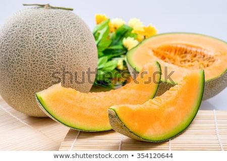 частей · дыня · белый · продовольствие · оранжевый · десерта - Сток-фото © stevanovicigor