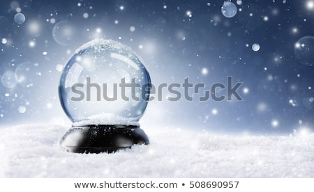 Natal neve globo monocromático cor ícone Foto stock © HelenStock