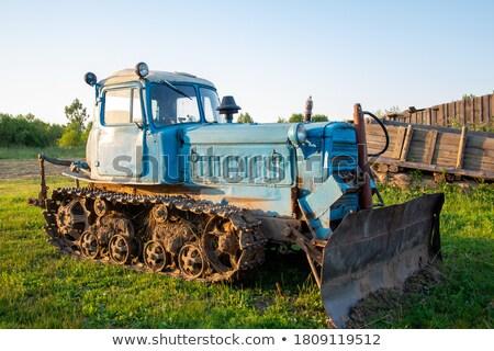 Ventana vista excavadora fuera ilustración oficina Foto stock © bluering