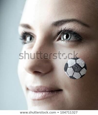 kobiet · piłkarz · portret · szczęśliwy · piłka · nożna · piłka · nożna - zdjęcia stock © deandrobot