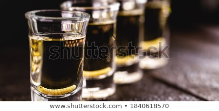Tequila fogyasztó iszik utolsó lövés út Stock fotó © sifis