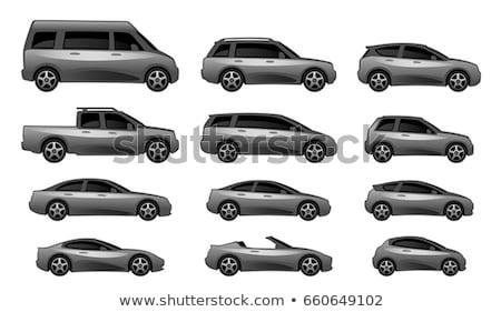 vector · verschillend · voertuig · banden · geïsoleerd · witte - stockfoto © bluering