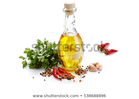Aceite de oliva chile hierbas botella hecho a mano especias Foto stock © zhekos