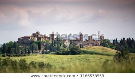 Pintoresco pueblo paisaje alpes Italia cielo Foto stock © OleksandrO