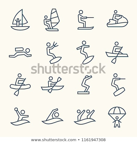 Set of water sports Stock photo © bluering
