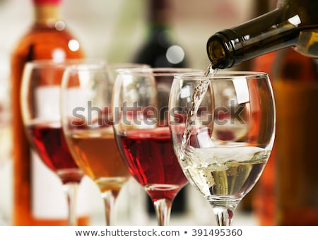 Wineglasses with red and white wine Stock photo © Alex9500