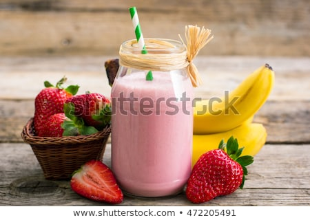 strawberry with banana stock photo © tycoon