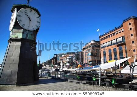 クロック 塔 ドック 現代建築 オスロ ノルウェー ストックフォト © vladacanon