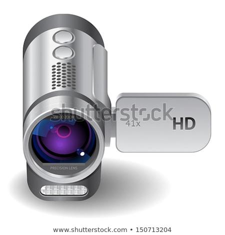 デジタル · 写真 · カメラ · プロ · ビデオカメラ · ベクトル - ストックフォト © vectorworks51