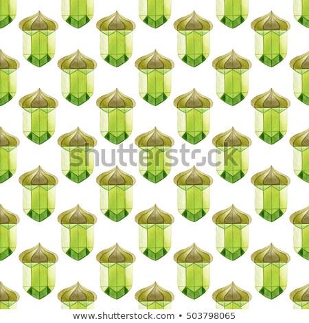 Naadloos kristal patroon bladeren abstract Stockfoto © olgaaltunina