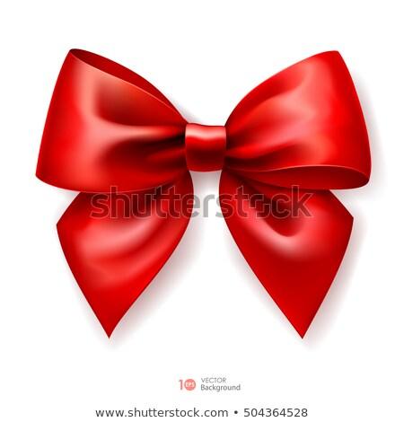 Vermelho seda fita eps 10 valentine Foto stock © beholdereye