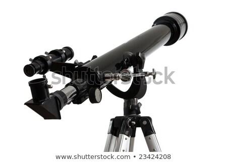 Detail of an isolated telescope on tripod (white background). Stock photo © kayros