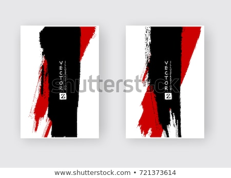 Vettore splatter vernice abstract nero set Foto d'archivio © cosveta