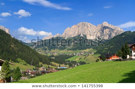 Dolomiti - Corvara in Badia small town Stock photo © Antonio-S