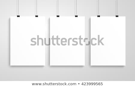 blank white paper poster at room stock photo © cherezoff