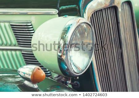 Phare radiateur voiture route design fond Photo stock © kayros