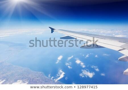 海 雲 空 航空機 表示 光 ストックフォト © lunamarina