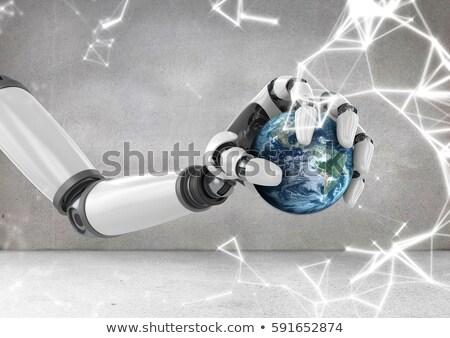 Сток-фото: робота · стороны · мира · sparks · цифровой
