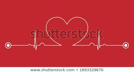 врач спасательный трос красный любви сердце изолированный Сток-фото © alexmillos
