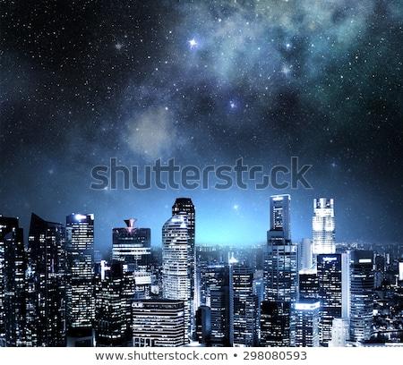 Noc widoku centrum rdzeń działalności Zdjęcia stock © joyr