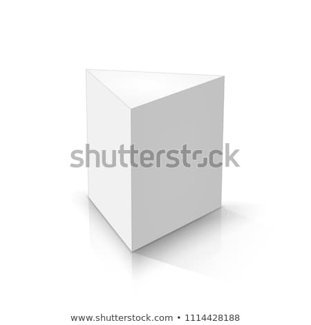 3d prisms template. Realistic with shadow Stock photo © Mediaseller