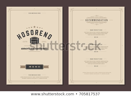 menu · sjabloon · restaurant · chef · verbergen · achter - stockfoto © Fisher
