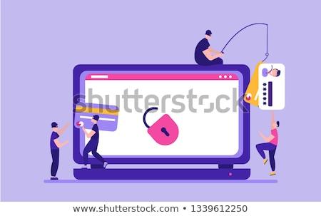 личные личности предупреждение хакер сеть иллюстрация Сток-фото © alexmillos