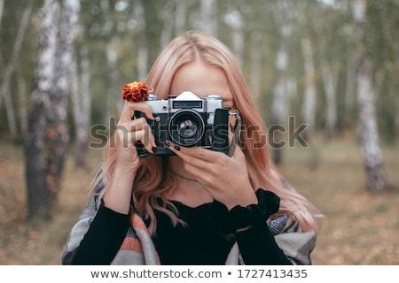 девушки · фотографии · Vintage · фото · камеры · Открытый - Сток-фото © chesterf