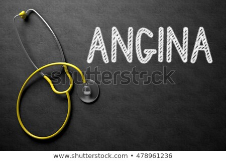 angina concept on chalkboard 3d illustration stock photo © tashatuvango