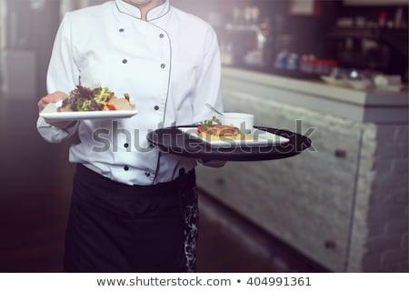 食品 · レストラン · シェフ · コピースペース · メニュー - ストックフォト © Fisher