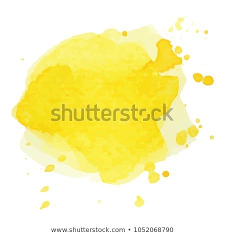 Suluboya sarı afiş örnek Stok fotoğraf © Natalia_1947