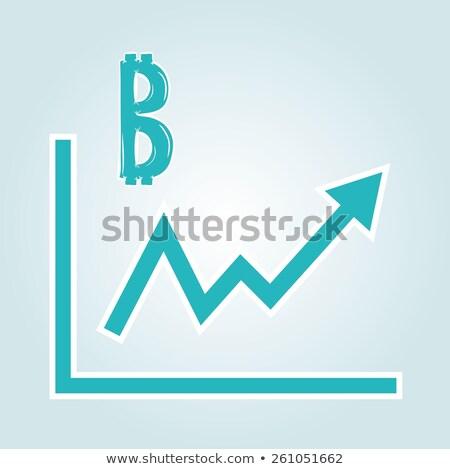 Bitcoin Increasing Price Graph Stock photo © ivelin