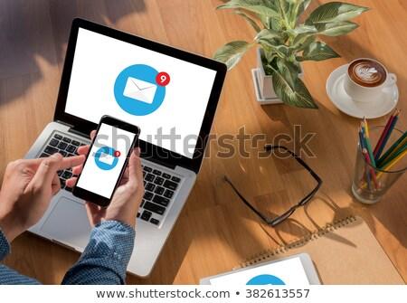 Contact Us Concept on Modern Laptop Screen. Stock photo © tashatuvango