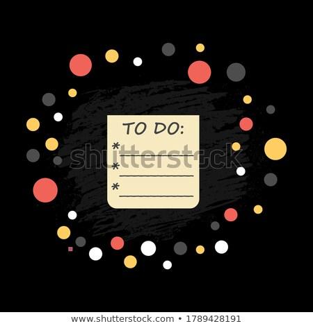 Persoonlijke produktiviteit schoolbord kantoor groene tekst Stockfoto © tashatuvango